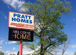 Pratt Modular Homes Sign