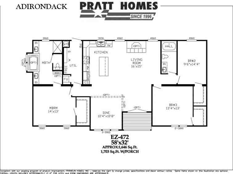 Adirondack floor plan pratt homes for Adirondack house plans