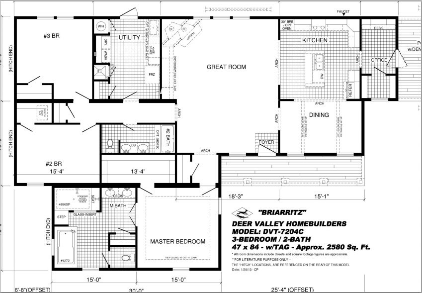 briarritzfloorplan Pratt Homes