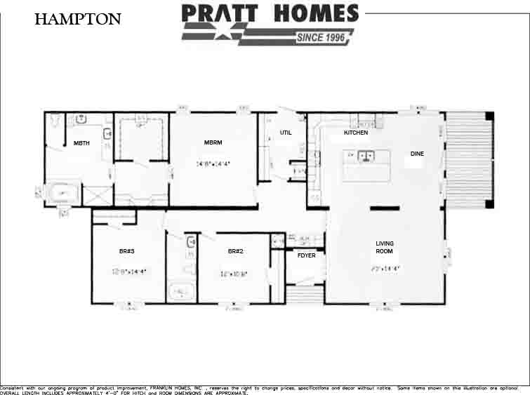 Hampton Floor Plan Pratt Homes