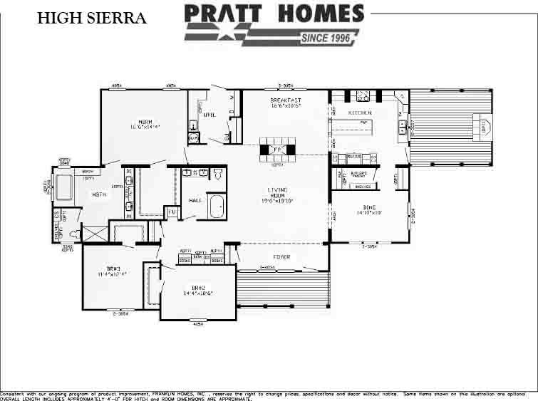High Sierra Floor Plan Pratt Homes