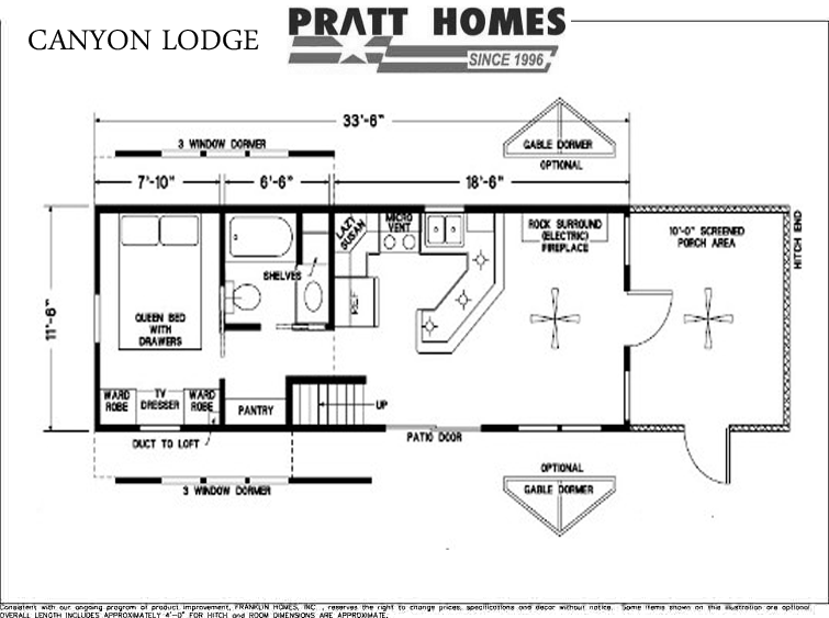 Canyon lodge floor plan pratt homes for 16x50 house plans