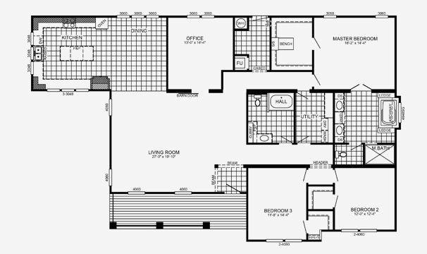 Edington modular home floor plan pratt homes for Southern energy homes floor plans