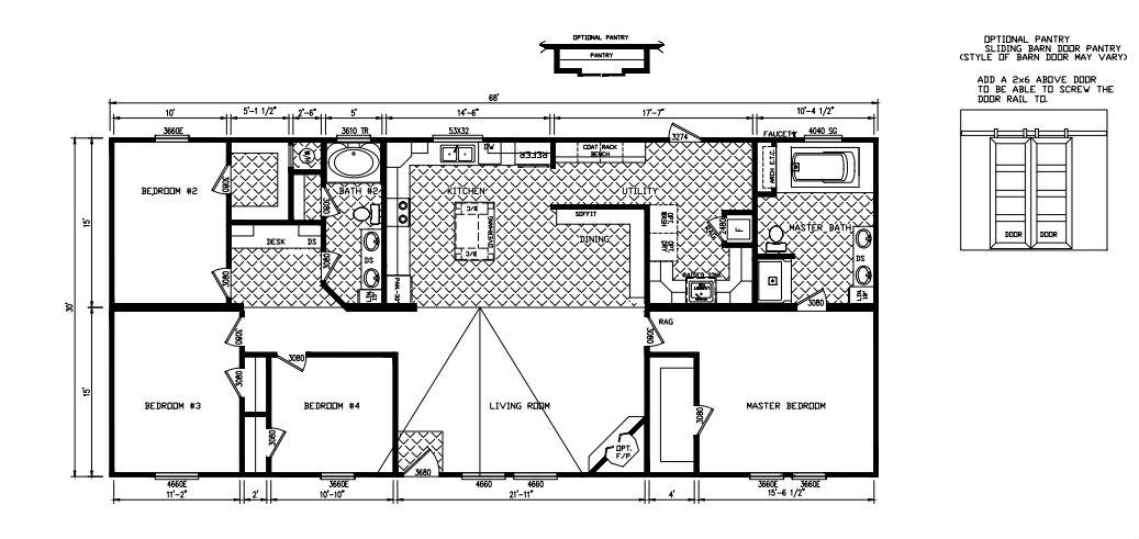 Oak Hill Modular Home Floor Plan Pratt Homes