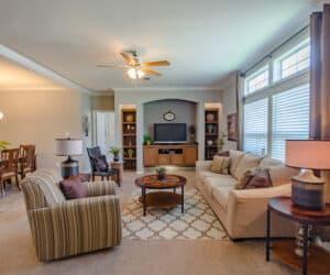 Living Room from house model Oak Hill made by Pratt Homes