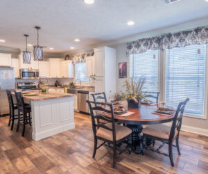 Kitchen and dining room from Pratt Homes model Lee Ann