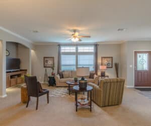 Living Room from house model Oak Hill