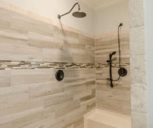 Shower in Bathroom from house model Jones