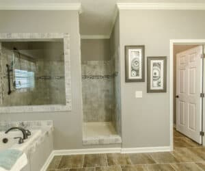 Master Bathroom from house model Gunny made by Pratt Homes