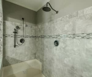 Shower in master Bathroom from house model Gunny