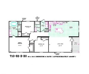 Rockwood Modular Home floor plan made by Pratt from Tyler Texas