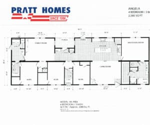Plan for home model Angela, from Pratt Homes