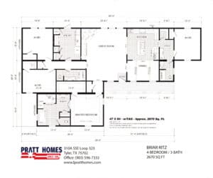 Floor plans for Home model Briar Ritz-RitzCarlton