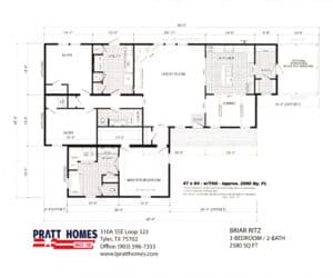 Floor plans for Home model Briar Ritz-RitzCarlton made by Pratt