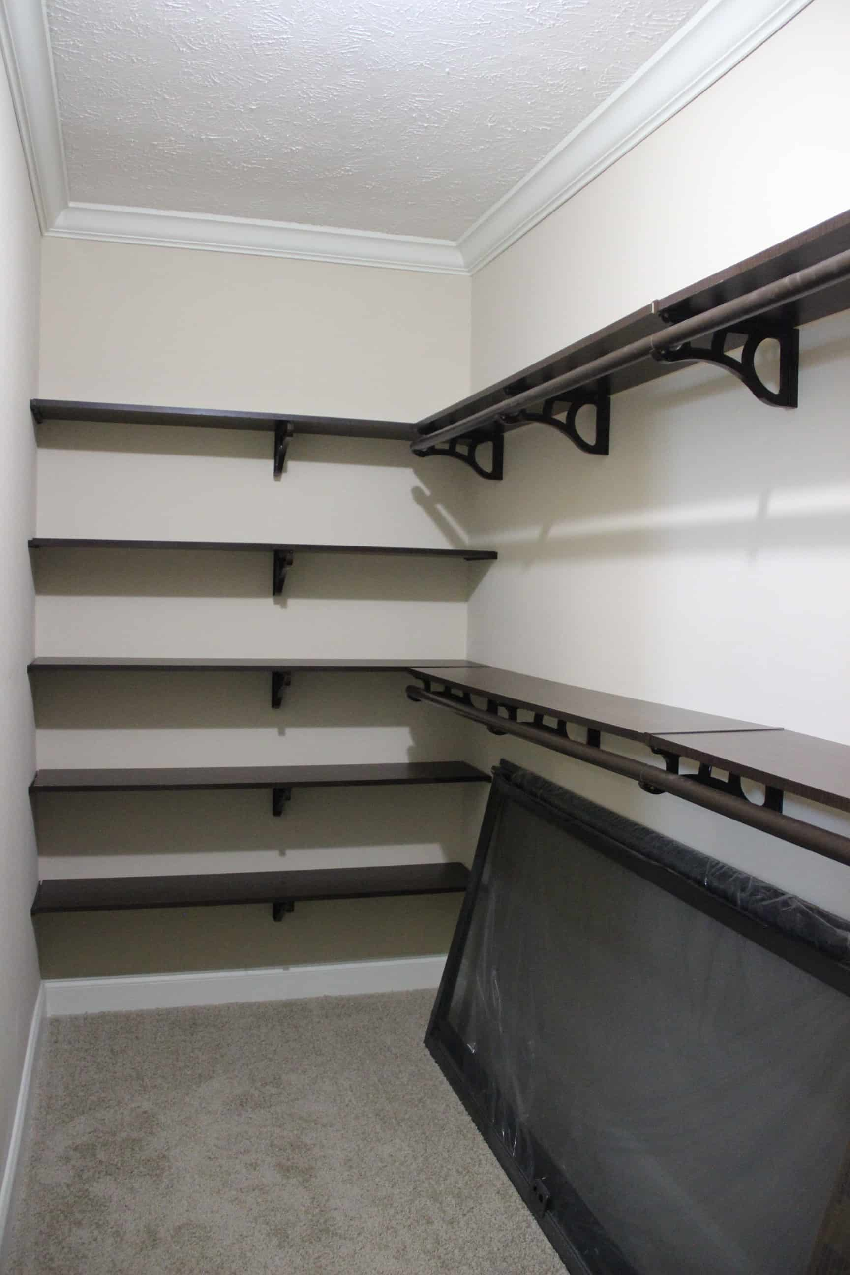 Closet space from house model Brian Ritz
