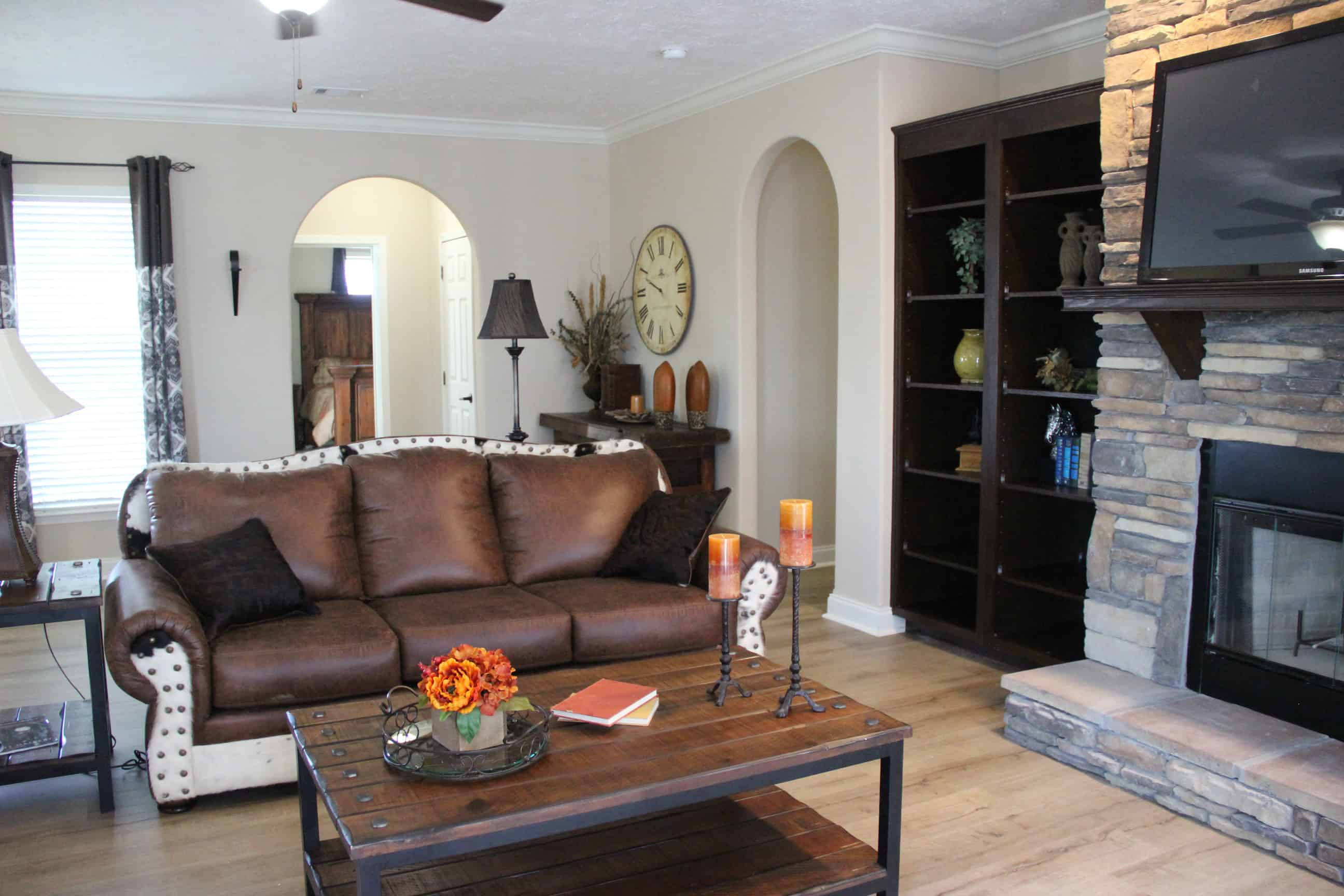 Living room details from house model Brian Ritz