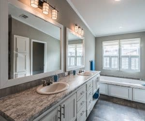 Master bathroom in the house made by Pratt from Tyler Texas