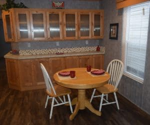 Dining room from the house model 1676A from Pratt Homes offer
