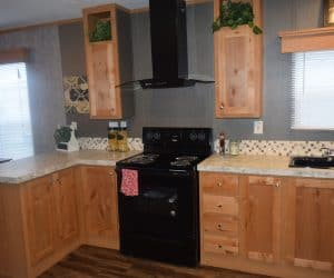 Kitchen details from the house model 1676A from Pratt Homes offer
