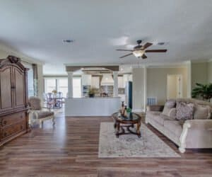 Furnished living area in house made by Pratt Homes