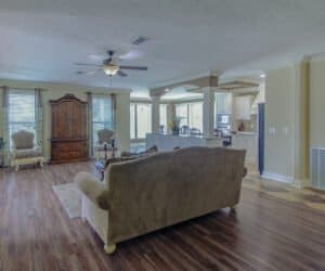 Living Area in house of Pratt Home company