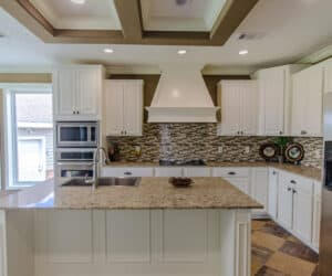Kitchen Space with kitchen island from Pratt Homes