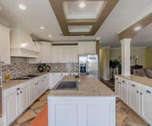 Large kitchen island from Pratt Homes