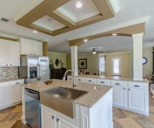 Kitchen island from Pratt Homes