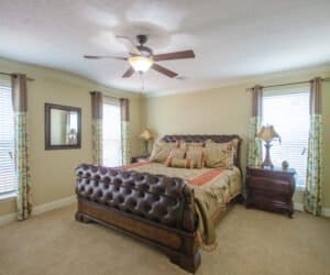 Furnished main badroom from Pratt Homes