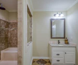 Furnished bathroom from Pratt Homes