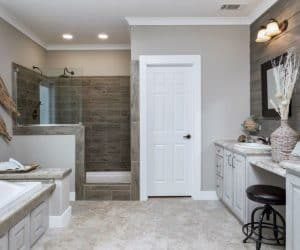 Edington Modular Home bathroom entrance