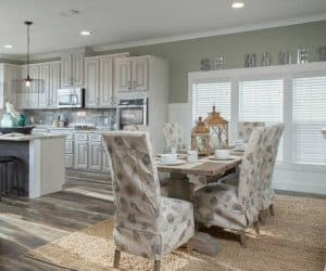 Edington Modular Home dining room with kitchen