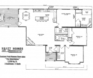 Fairfax Modular Home floor plan made by Pratt