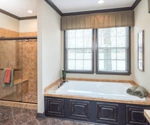Fairfax Modular Home bathtub and shower