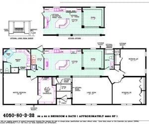 Fairfax Modular Home floorplan made by Pratt from Tyler Texas