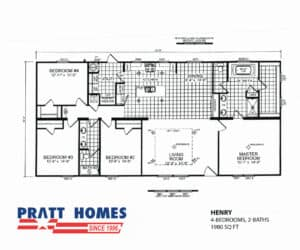 Plan for home model Henry from Pratt Homes