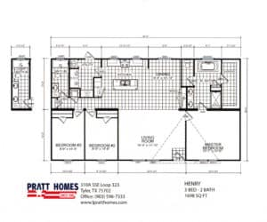 Floor Plans for House model Henry made by Pratt Homes