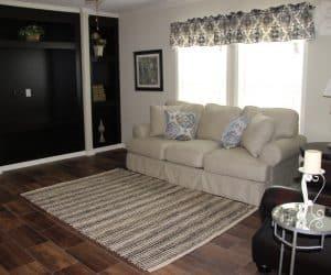 Living room space in house model Angela from Pratt houses of