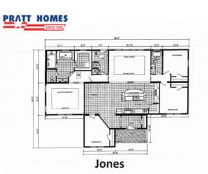 Floor plan for home model Jones made by Pratt Homes