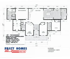 Floor plan for home model K-House made by Pratt Homes