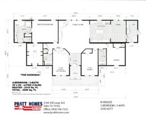 Floor plans for Home model K-House