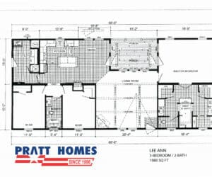 Plan for home model Lee Ann from Pratt Homes