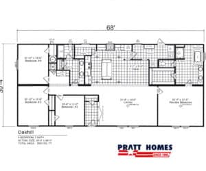 Floor plans for Home model Oak Hill made by Pratt