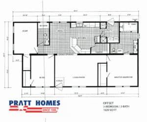Plan for home model Offset from Pratt Ho