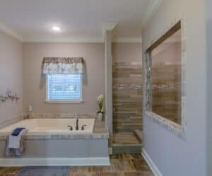 Jacuzzi in Bathroom of house model Sterling