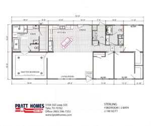 Floor plans for Home model Sterling