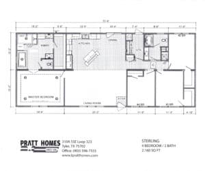 Floor plans for Home model Sterling made by Pratt from Tyler