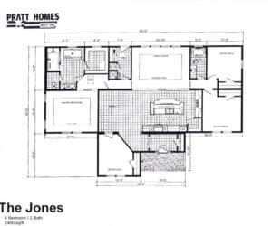 Floor plans for Home model The Jones made by Pratt
