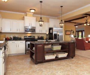 Willow Modular Home kitchen island
