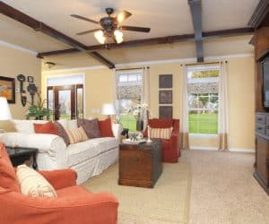 Willow Modular Home living room space